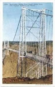 Suspension Bridge Over Royal Gorge, Colorado, 1900-1910s