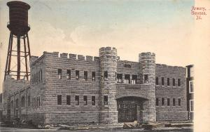 Geneseo Illinois~National Guard Armory~Piles of Lumber~Water Tower~1909 Postcard