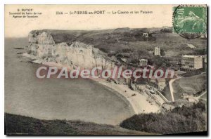 Postcard Old St Peter Port In The Casino And The Cliffs