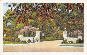 Worthington Ohio~Harding Sanitarium~Entrance~1920s Postcard