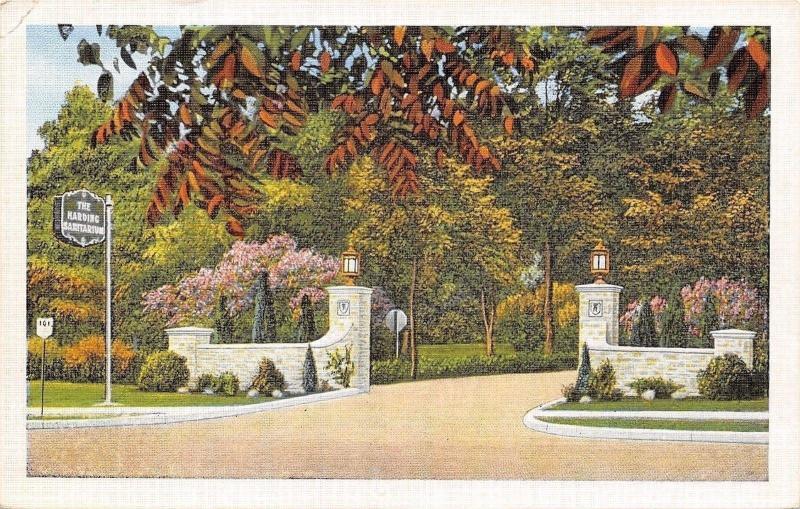 Worthington Ohio~Harding Sanitarium~Entrance~1920s Postcard