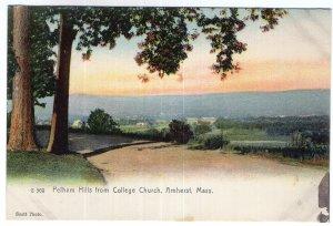 Amherst, Mass, Pelham Hills from College Church