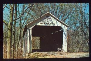 Indiana/IN Postcard, Grange Cornor Bridge, Parke County