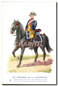 Old Postcard The uniforms of the gendarmerie MArechausee Cavalier 1778 Metiers