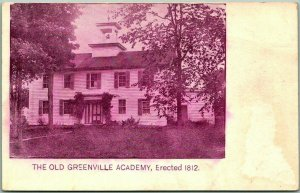 1900s Greenville, New York Postcard THE OLD GREENVILLE ACADEMY School Building