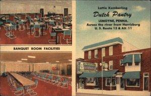 LeMoyne PA Dutch Pantry Linen Postcard