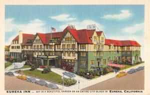 Eureka California Inn Birdseye View Antique Postcard K91026