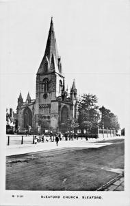 SLEAFORD LINCOLNSHIRE UK~CHURCH-KINGSWAY REAL PHOTO POSTCARD