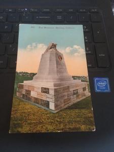 Vtg Postcard: Sloat Monument, Montery California