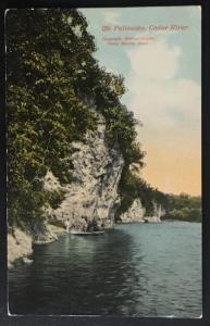 The Palisades Cedar River Cedar Rapids IA Baylis Post Card Co 35814