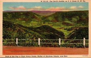 West Virginia The Devil's Saddle On U S Route 50 Curteich
