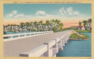 South Carolina Sumter U S Highway No 15 And Bridge Over Cypress Lake