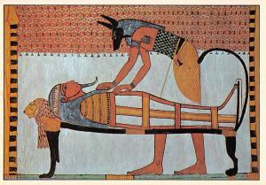 Tombe de Sennedjem Deir el Medineh Thebes Anubis preparant la Momie