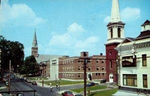 Connecticut Torrington Main Street Showing City Hall 1955