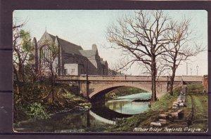 P1473 old unused postcard view millbrae bridge newlands glasgow england