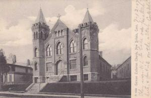 German Lutheran Church - New Britain CT, Connecticut - pm 1907 - UDB