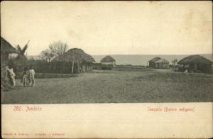 Ambriz Angola - Senzalla Bairro Indigena c1905 Postcard
