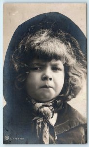 RPPC CUTE YOUNG ANGRY GIRL c1910s Rotophot British Postcard
