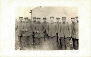 Military Group Picture Postcard RPPC WW1 03.02