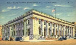 Jersey City, NJ USA,  Post Office Postcard, Postoffice Post Card Old Vintage ...