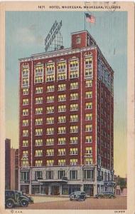 Illinois Waukegan Hotel Waukegan 1951 Curteich