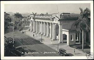 panama, PANAMA, Railway Station (1930s) RPPC