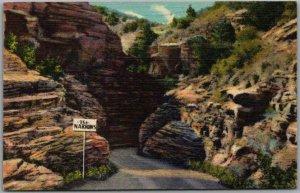1948 Colorado Postcard Entering the Narrows, WILLIAMS CANON Curteich Linen