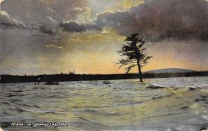 Grand Lake Maine Sunset Scenic View Vintage Postcard JA4741404