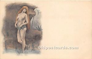 Nude Postcard Chemise D'Eve Unused