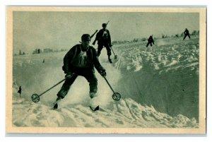 Downhill Skiing, Sport II, Echte Wagner German Trade Card *VT31V
