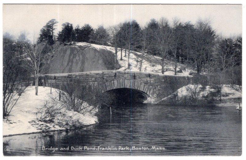 Boston, Mass, Bridge and Duck Pond, Franklin Park