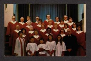 RI Central Baptist Church Choir singers Providence Rhode Island Postcard PC