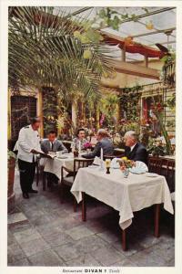 Guest enjoying sunny day, Interior, Restaurant DIVAN 1, Established 1843, Tiv...
