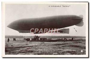 Old Postcard Jet Aviation Zeppelin Airship Patrie