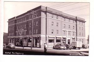 Real Photo, Hotel Haileybury, Ontario, MacLean Photo, Cars, Truck
