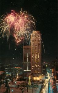 Canada - Quebec, Montreal. Expo '67 Fireworks, Le Chateau Champlain