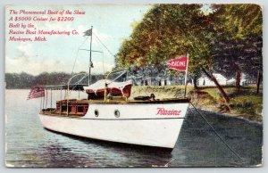Chicago IL~Boat Show~Muskegon MI Racine Mfg Co~Phenomenal $5000 Cruiser~1910