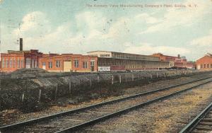 Elmira New York~Fenceline & Railroad Tracks Along Kennedy Valve Mfg Plant~c1910