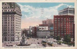 Michigan Detroit Pontchartrain Hotel And Hammond Building 1919