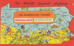 THE PENNSYLVANIA TURNPIKE, 30-40s; Map, The World's Greatest Highway