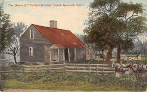 South Norwalk Connecticut~Thomas Fitch Yankee Doodle Home~1911 Postcard