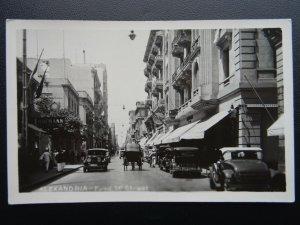 Egypt ALEXANDRIA 14th Street c1930's RP Postcard