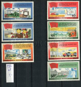 266327 MONGOLIA 1983 year stamp set national economy