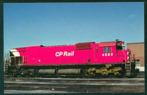Canadian Pacific No. 4555 Action Red CP Railroad Train Postcard