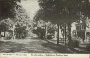 Westboro MA Main St. East of Blake c1915 Postcard