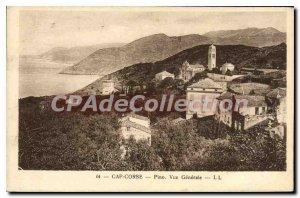 Postcard Old Cap Corse Pino Vue Generale