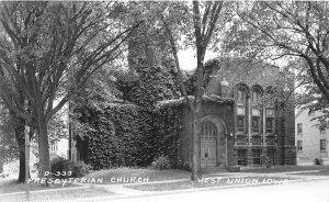 G27/ West Union Iowa RPPC Postcard c40s Presbyterian Church2