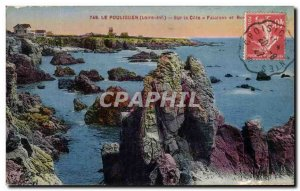 Old Postcard Pouliguen On the Riviera Cliffs and rocks