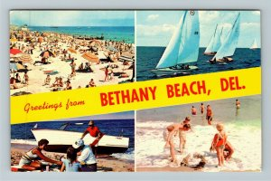 Bethany Beach DE- Delaware, Bethany Beach, Banner, Chrome Postcard