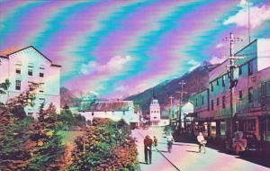 Alaska Sitka Main Street Scene